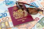 Euros and British passport for travelling to  Eurozone countries from the UK